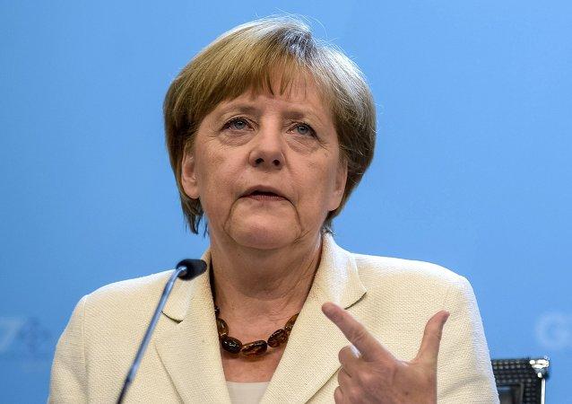 默克爾主張恢復歐盟與美國間的自由貿易談判