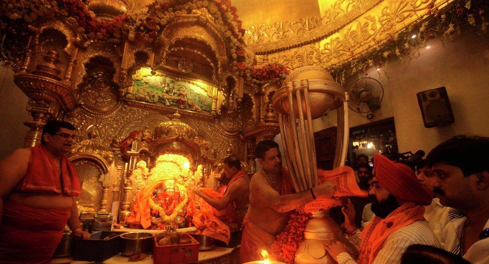 印度一寺院丟失260多公斤黃金