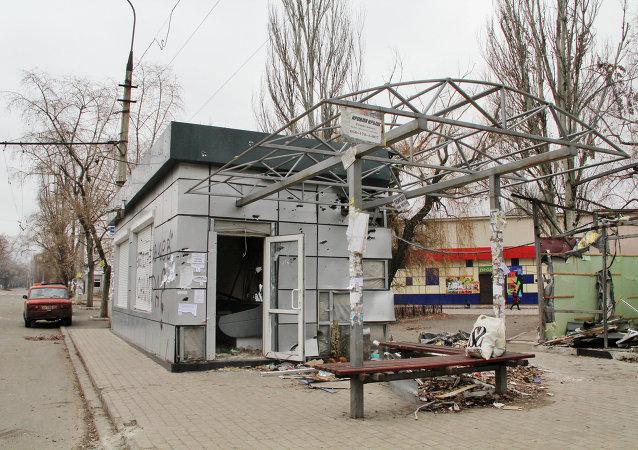 頓涅茨克人民共和國緊急情況部:頓涅茨克公交車站炮擊造成9人死亡10人受傷