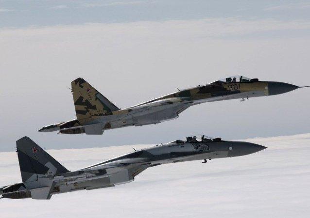 俄空天軍:蘇-35殲擊機將在赫梅米姆基地進行24小時值勤