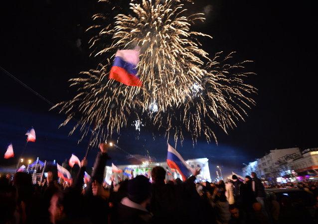 民調:愈90%的克里米亞居民積極評價併入俄羅斯