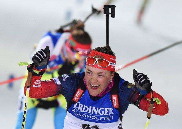 俄羅斯選手在芬蘭冬季兩項世錦賽上獲得金牌