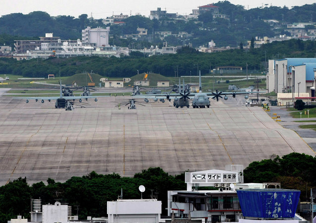 美軍駐沖繩嘉手納空軍基地