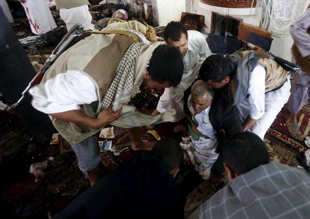 「伊斯蘭國」武裝分子宣稱對也門清真寺爆炸負責 爆炸已致150人死亡,至少345人受傷