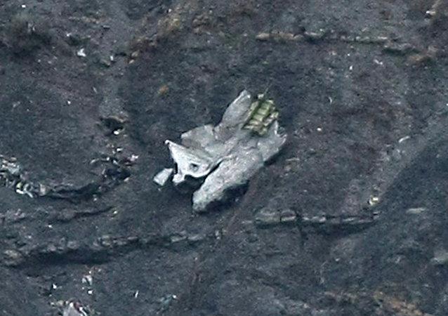 墜毀空客的飛機殘骸