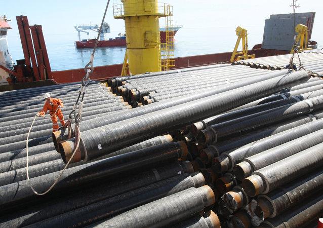 Строительство морского участка газопровода Джубга - Лазаревское - Сочи в акватории Черного моря
