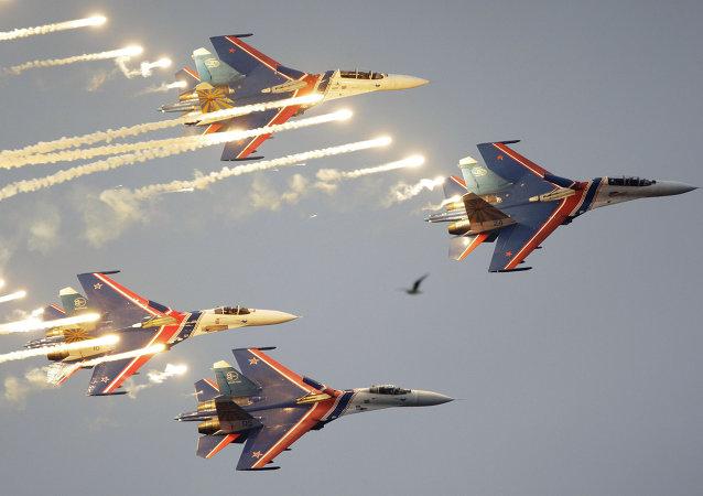 「俄羅斯勇士」飛行隊的蘇-27戰鬥機