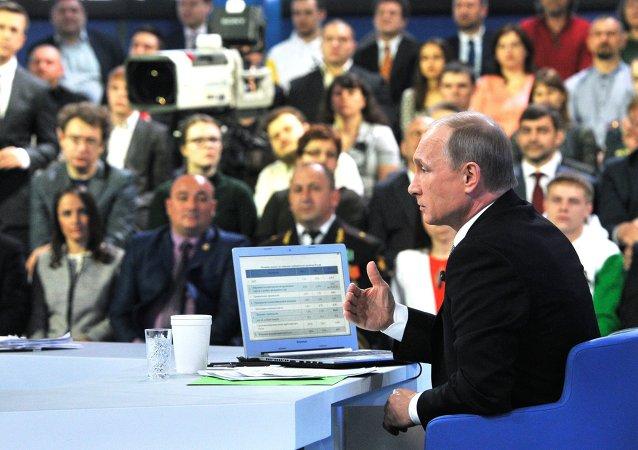「與普京直播連線」節目已接到逾45萬次電話提問