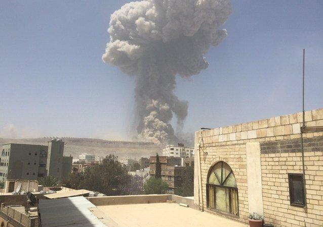 媒體:聯軍空襲導致也門首都至少90人死亡