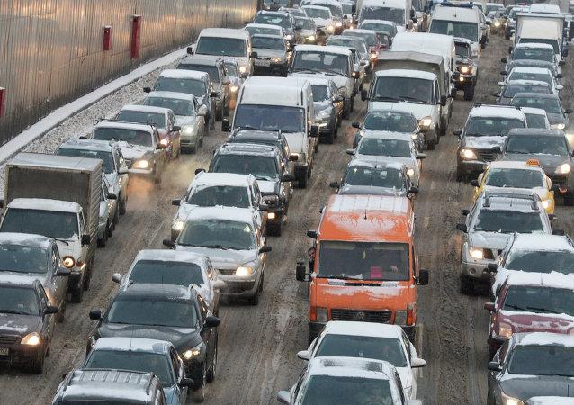 調查:莫斯科交通擁堵程度全球第二