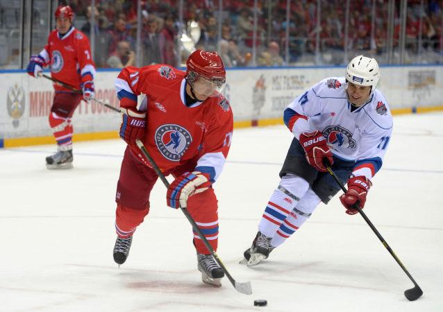 普京5月10日將在索契參加夜間冰球聯賽的比賽