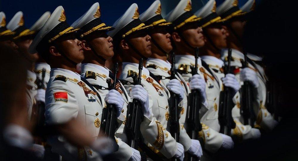 中國軍人在莫斯科紅場