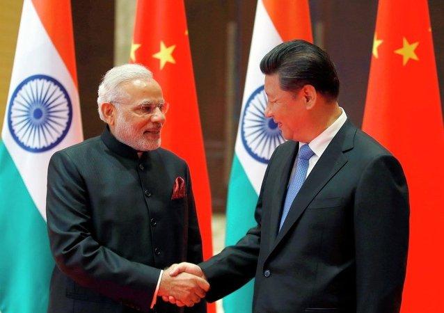 中國國家主席會見印度總理