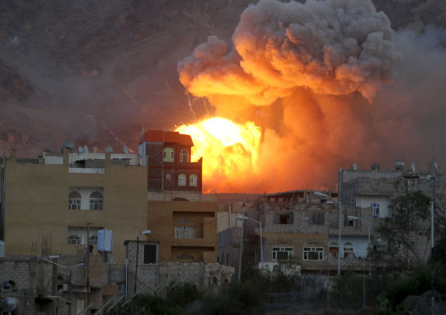 沙特聯軍空軍對也門首都薩那予以沈重打擊