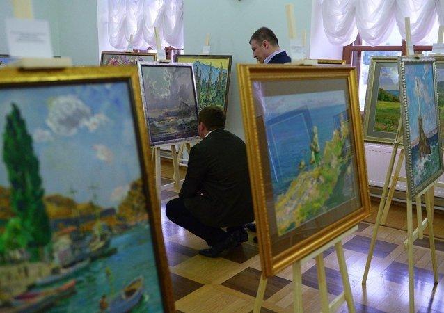 俄著名畫家作品北京拍賣成功 總成交額超3千萬人民幣