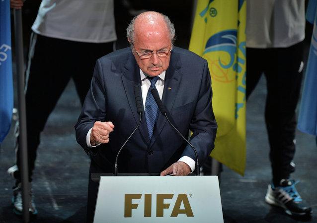 國際足聯主席布拉特宣佈該組織大會開幕
