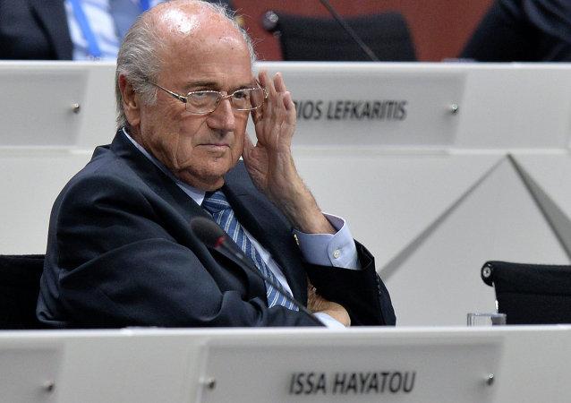 國際足聯主席拒絕回答有關該組織腐敗醜聞的問題