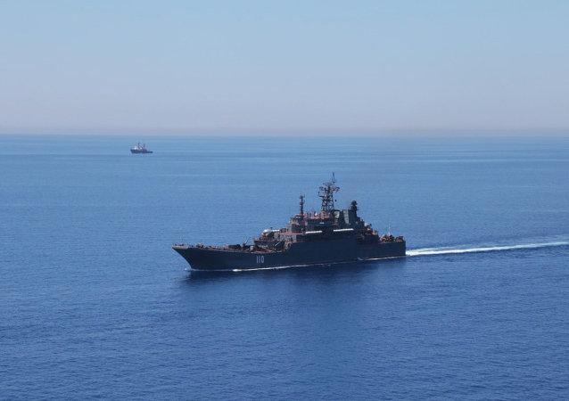 俄護衛艦在地中海演習中擊退空中攻擊