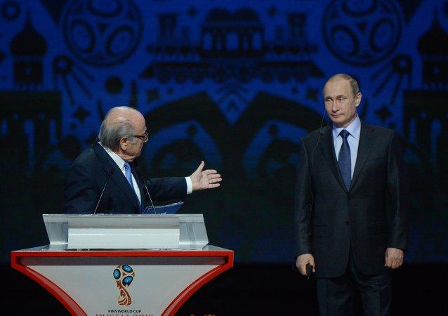 普京:在俄舉辦2018年世界杯會提高足球在該國的普及性