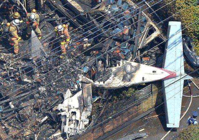 東京附近發生飛機失事,造成3人死亡,5人受傷