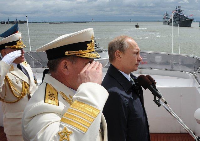 普京:俄海軍成功保障俄國防能力