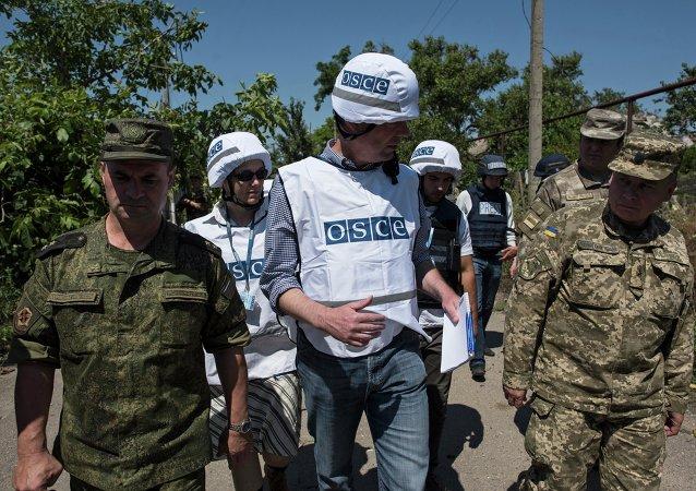 歐安組織:烏軍與盧甘斯克民兵指揮官面談停火協議執行情況