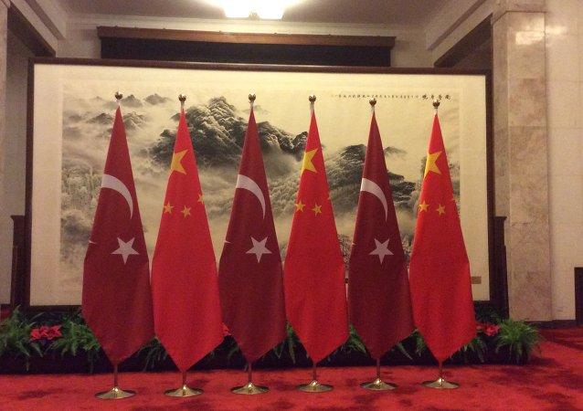 土耳其國旗與中國國旗
