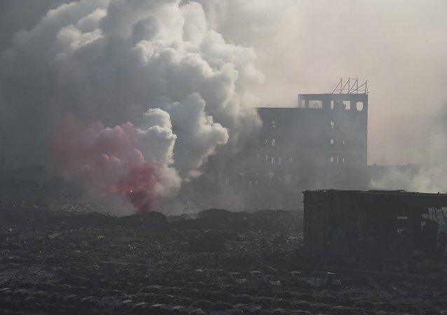 中國化工廠爆炸致9人失聯