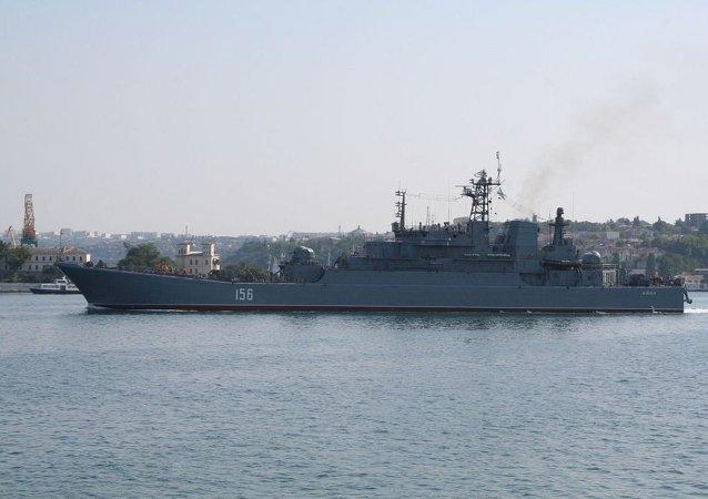 俄北方艦隊的大型登陸艦