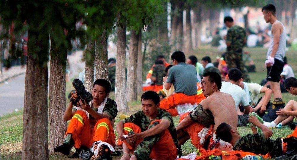 天津災民要求政府賠償