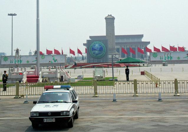 俄獨立警衛團官兵參加北京閱兵式總彩排