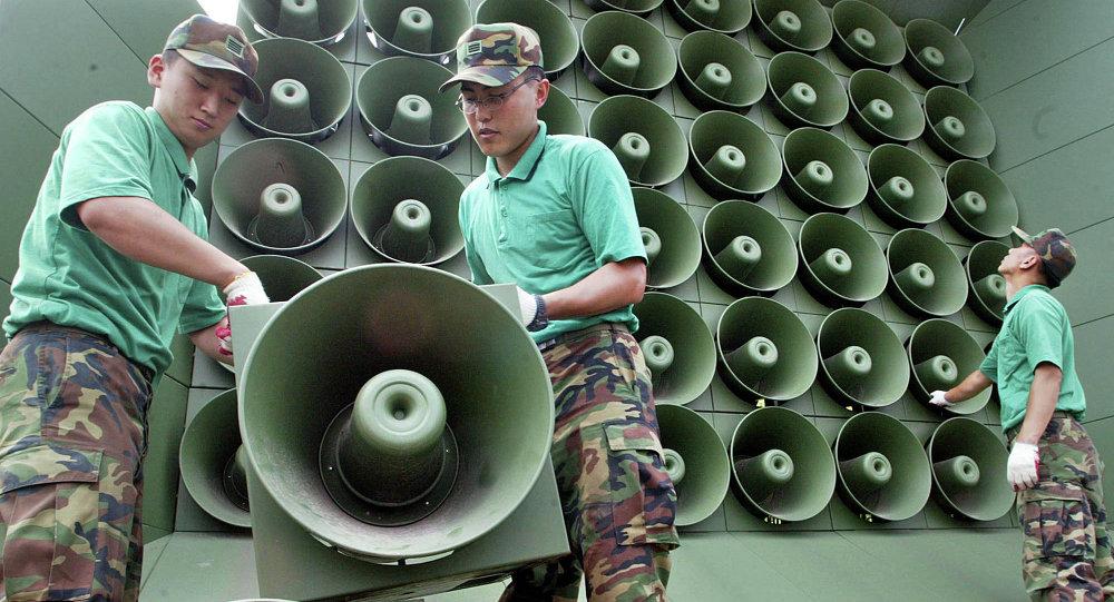 韓國韓朝邊界擴音器安置地點