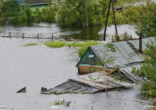 俄緊急情況部:遠東92條河流汛期或臨界警戒水位