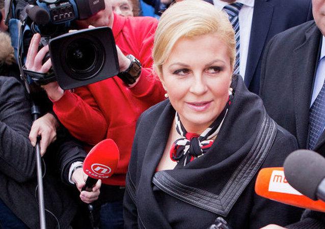 克羅地亞總統科琳達•格拉巴爾-基塔羅維奇