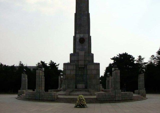 中國吉林省舉行紀念抗戰勝利70週年祭奠蘇聯紅軍烈士活動