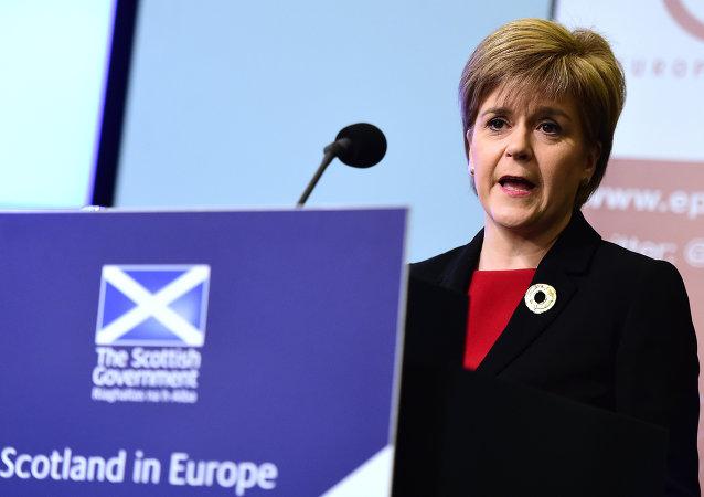 蘇格蘭第一總理尼古拉·斯特金