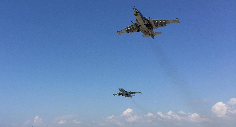 俄國防部發佈據推測「伊斯蘭國」最高頭目被消滅的空襲圖片