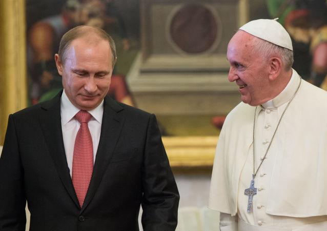 普京轉述羅馬教皇的教言