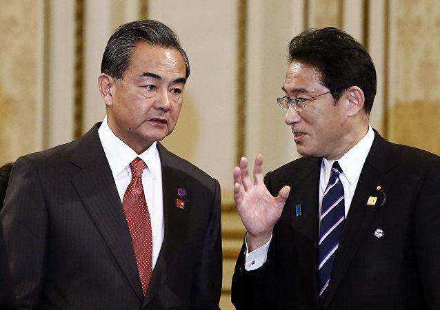 中日外長討論新型冠狀病毒情況和日本人撤離問題