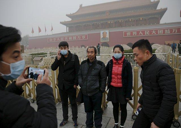 北京中小學因霧霾取消室外活動/資料圖片/