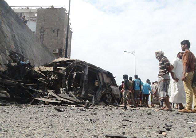 消息人士:發生於也門亞丁市的恐怖襲擊已致使8人死亡