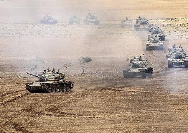 土耳其坦克在伊拉克