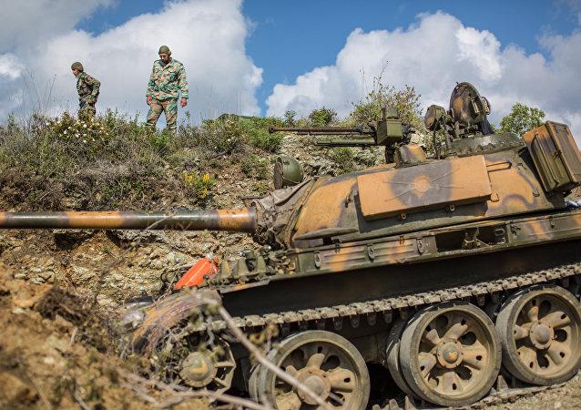 敘利亞政府軍逼近被伊斯蘭分子佔領的敘土邊境城市克薩卜/資料圖片/