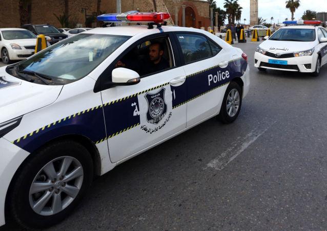 Автомобили ливийской полиции в Триполи