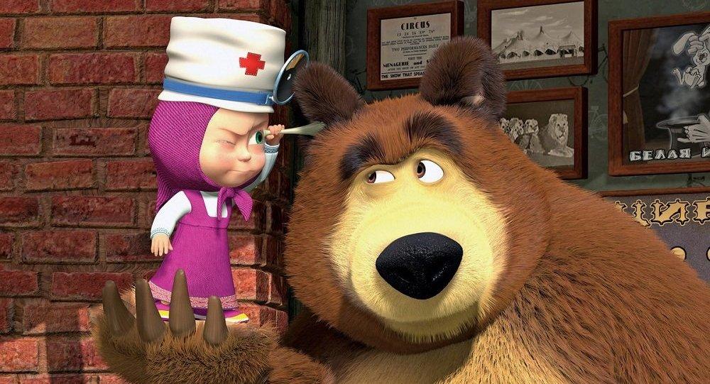 動畫片《瑪莎與熊》將從3月12日起在CCTV14頻道上播出