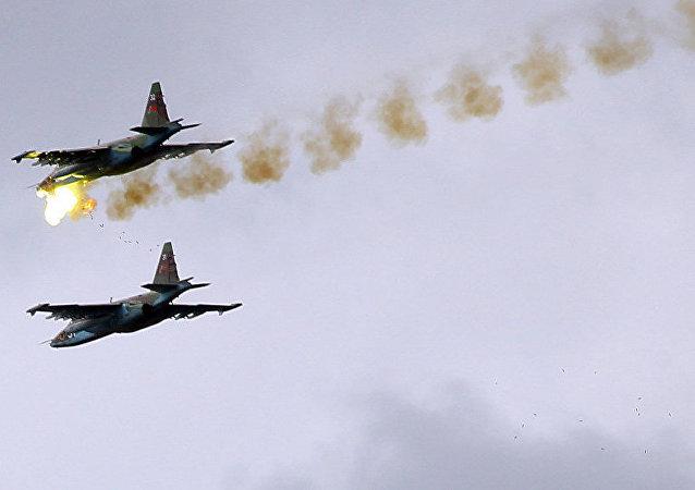 俄戰機在敘利亞