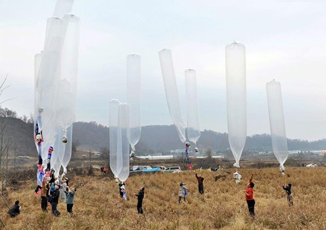 韓國向朝鮮投送8萬傳單 批評朝鮮政策