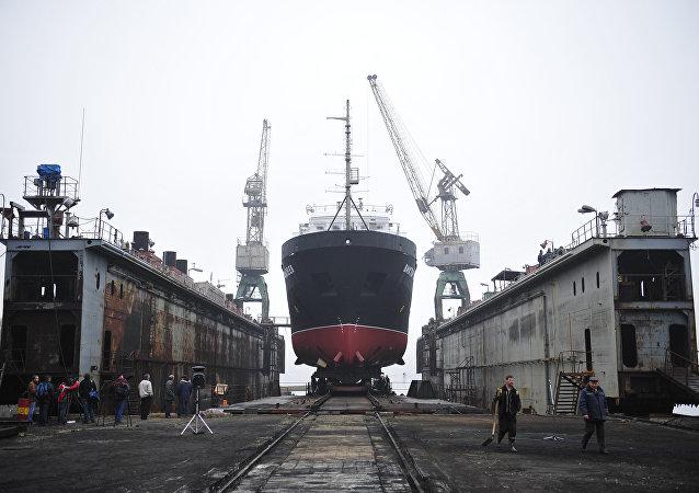 俄國防部為東方造船廠分配為太平洋艦隊艦艇建造碼頭的訂單