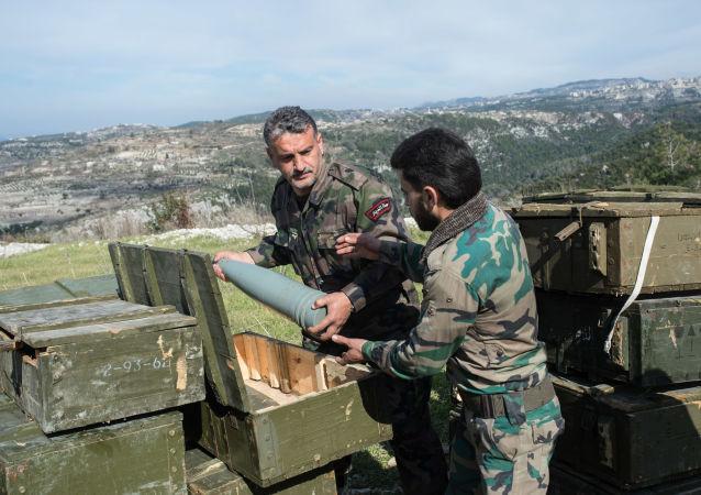 敘利亞軍人在伊德利卜