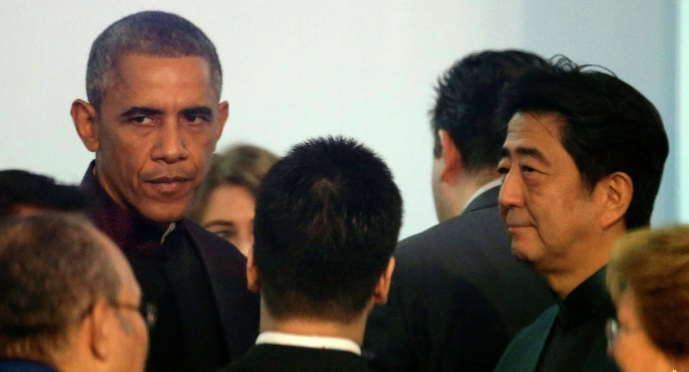 奧巴馬與安倍普三